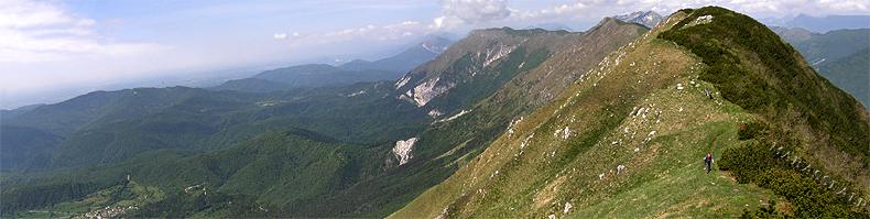 La lunga dorsale del monte Stol