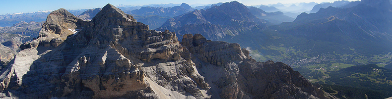 Panorama dalla vetta della Tofana di Rozes
