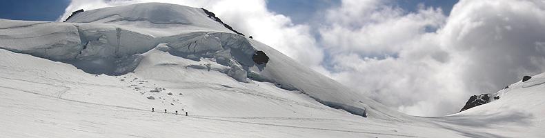 Monte Rosa, salita alla Punta Gnifetti