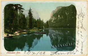 Lago di Dobbiaco -  anno 1899
