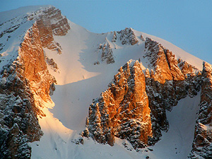 Enrosadira sulle Dolomiti